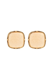 Riah Fashion Druzy-Post-Square Earrings - Front cropped