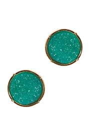 Riah Fashion Druzy Round Post Earrings - Front cropped