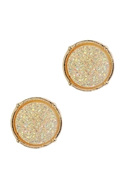 Riah Fashion Druzy Round Post Earrings - Product Mini Image