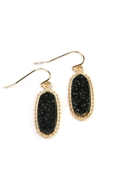 Riah Fashion Druzy-Stone Oval earrings - Product Mini Image