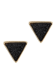 Riah Fashion Druzy Triangle Post Earrings - Front cropped