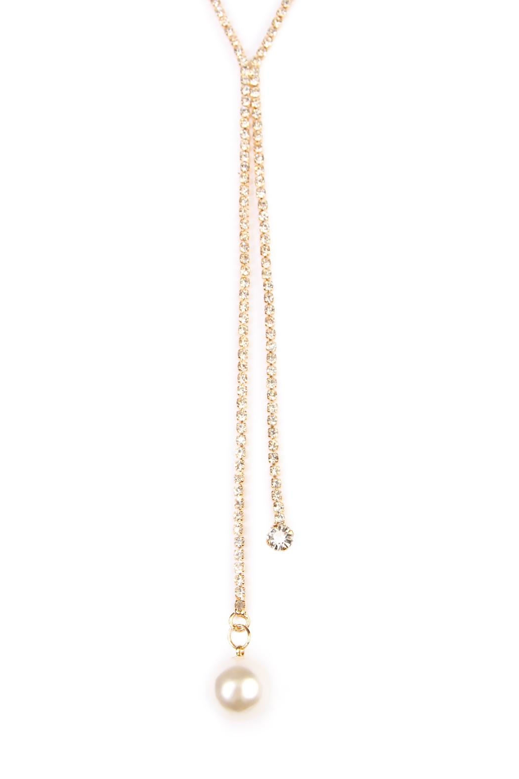 Riah Fashion Dual Chain Necklace - Front Full Image