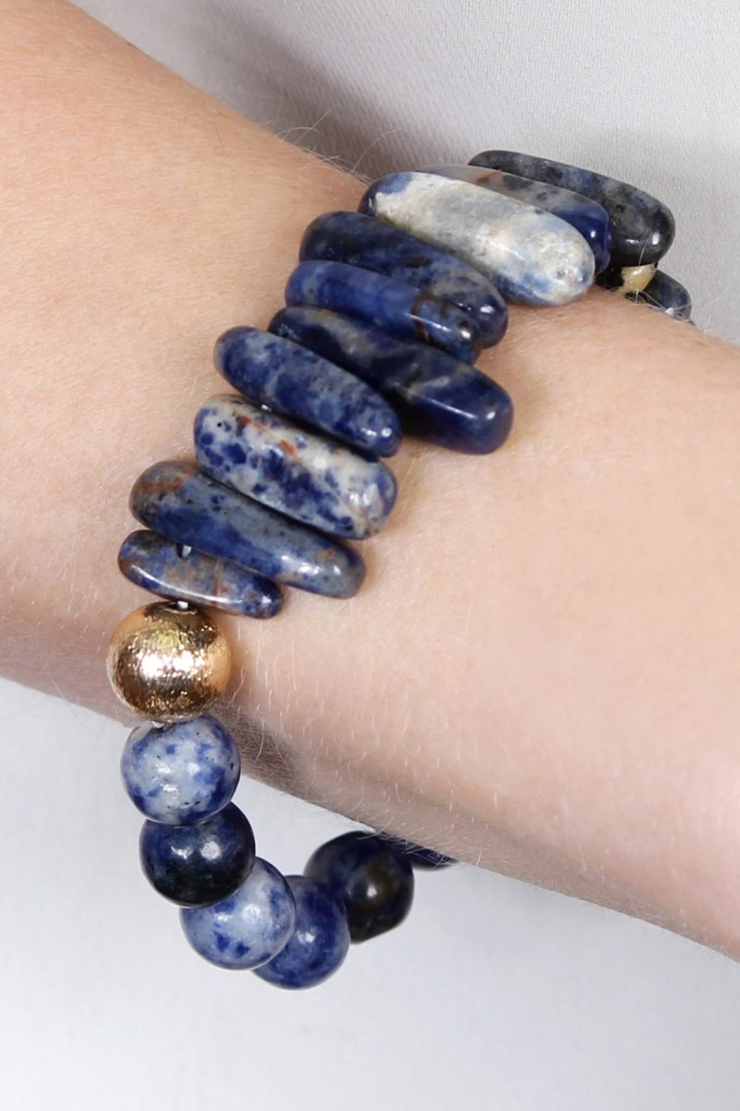 Riah Fashion Dual-Side Natural-Stone Bracelet - Front Full Image