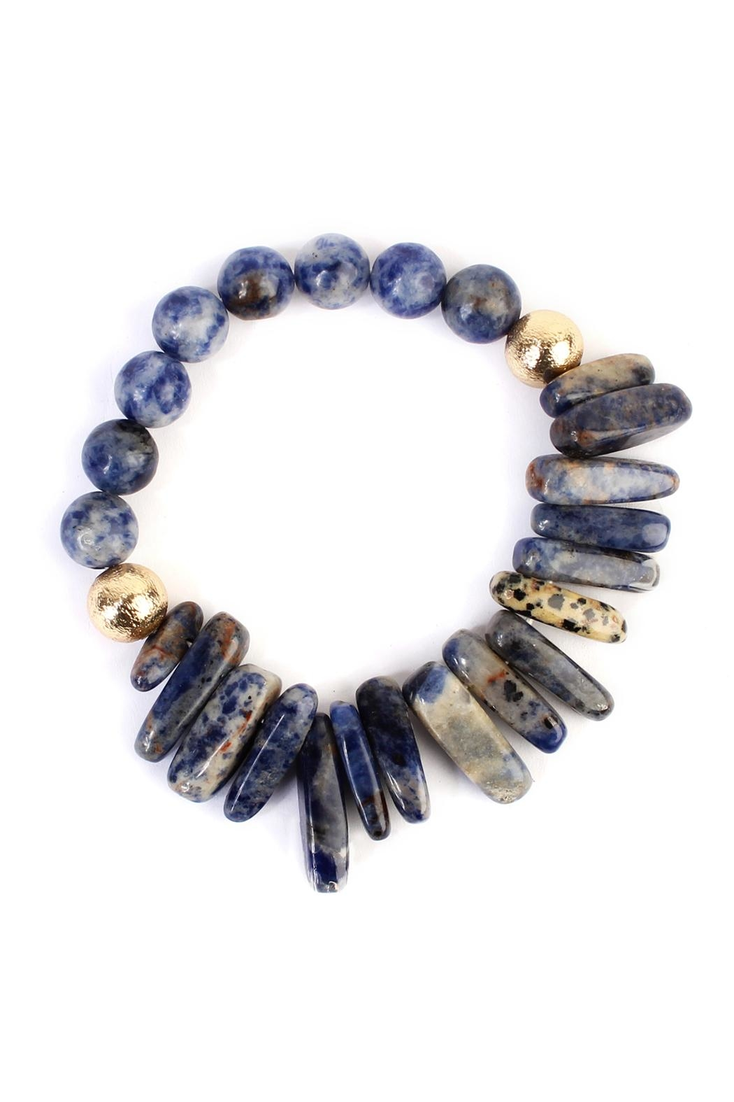 Riah Fashion Dual-Side Natural-Stone Bracelet - Front Cropped Image