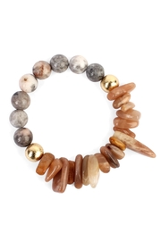 Riah Fashion Dual-Side Natural-Stone Bracelet - Front cropped