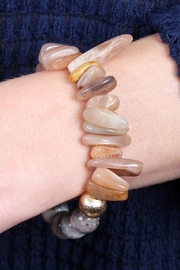 Riah Fashion Dual-Side Natural-Stone Bracelet - Front full body