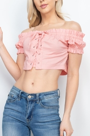 Riah Fashion Dusty-Pink-Top - Product Mini Image