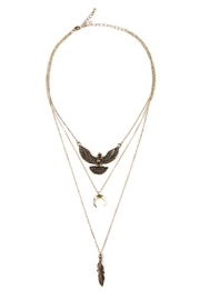 Riah Fashion Eagle Choker Necklace - Front cropped