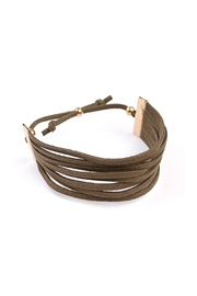 Riah Fashion Eight Strand Leather Bracelet - Front full body