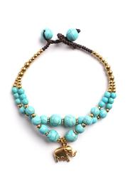 Riah Fashion Elephant Charm Bracelet - Product Mini Image