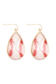Riah Fashion Epoxy-Sports-Gameday-Fish-Hook-Earrings - Front cropped