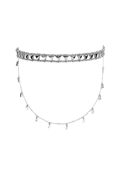 Shoptiques Product: Etched Beaded Layered Choker