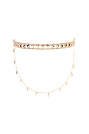 Riah Fashion Etched Beaded Layered Choker - Front cropped