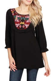 Riah Fashion Ethnic Pattern Tunic Top - Product Mini Image