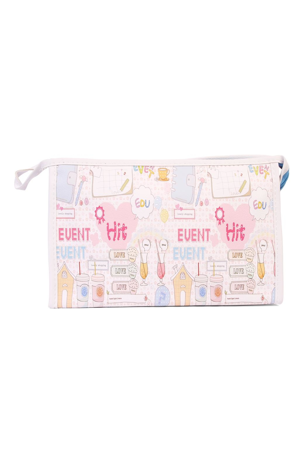 Riah Fashion Large Cosmetic Bag - Front Cropped Image