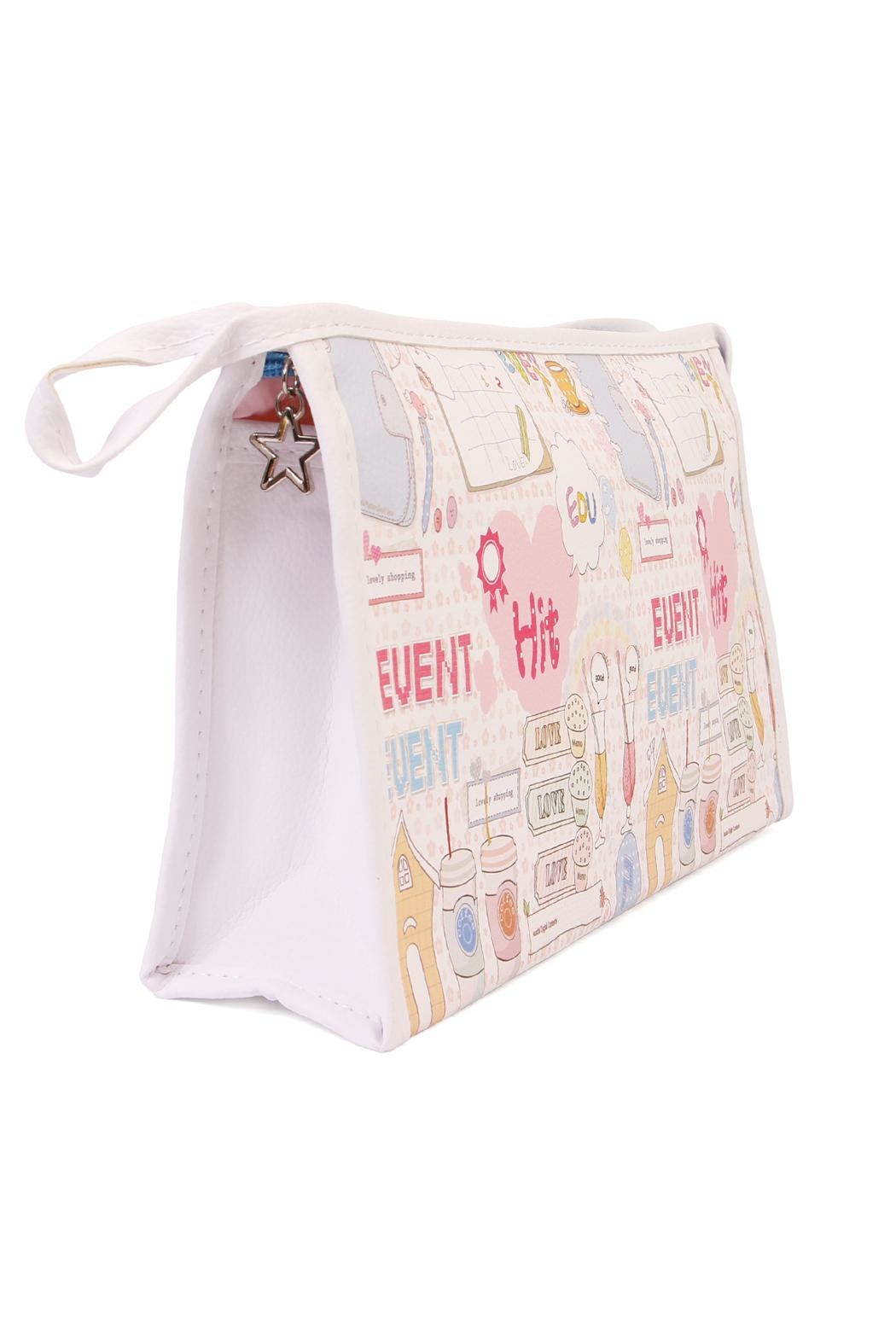 Riah Fashion Large Cosmetic Bag - Front Full Image