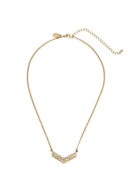 Riah Fashion Faceted-Chevron-Glittered-Short-Necklace - Product Mini Image