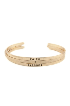 "Shoptiques Product: ""Faith-And-Blessed"" Bangle-Bracelet-Set"