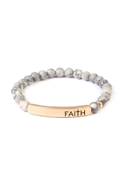 Riah Fashion Faith-Bar Natural Stone-Bracelet - Product Mini Image