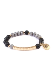 Riah Fashion Faith-Charm Natural Stone-Bracelet - Front cropped