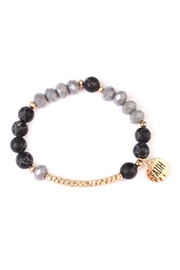 Riah Fashion Faith-Charm Natural Stone-Bracelet - Front full body