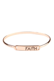 Riah Fashion Faith-Hinge Plate Bracelet - Front cropped