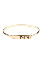 Riah Fashion Faith-Hinge Plate Bracelet - Product Mini Image