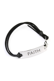 Riah Fashion Faith Leather-Strap Message-Bracelet - Product Mini Image