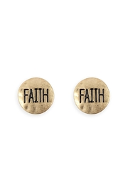 Riah Fashion Faith Stud Earring - Product Mini Image