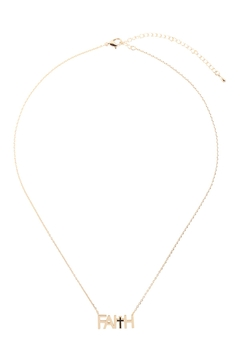 Riah Fashion Faith-With-Cross-Inspirational-Necklace - Alternate List Image