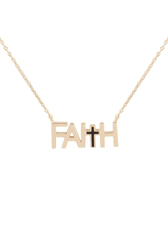 Riah Fashion Faith-With-Cross-Inspirational-Necklace - Product List Image
