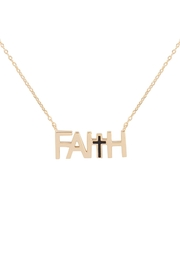 Riah Fashion Faith-With-Cross-Inspirational-Necklace - Product Mini Image