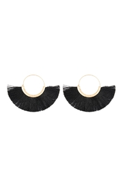 Riah Fashion Fan Tassel Hoop-Earrings - Product Mini Image