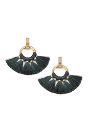 Riah Fashion Fan Tassel-Post-Wrap Hoop-Dangle-Earrings - Product Mini Image