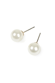 Riah Fashion Fashion Earrings (10mm Cream Pearl) - Front cropped