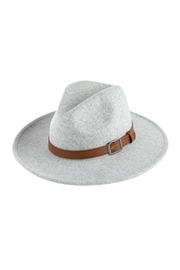 Riah Fashion Fashion Hat With Leather Belt Accent - Front cropped