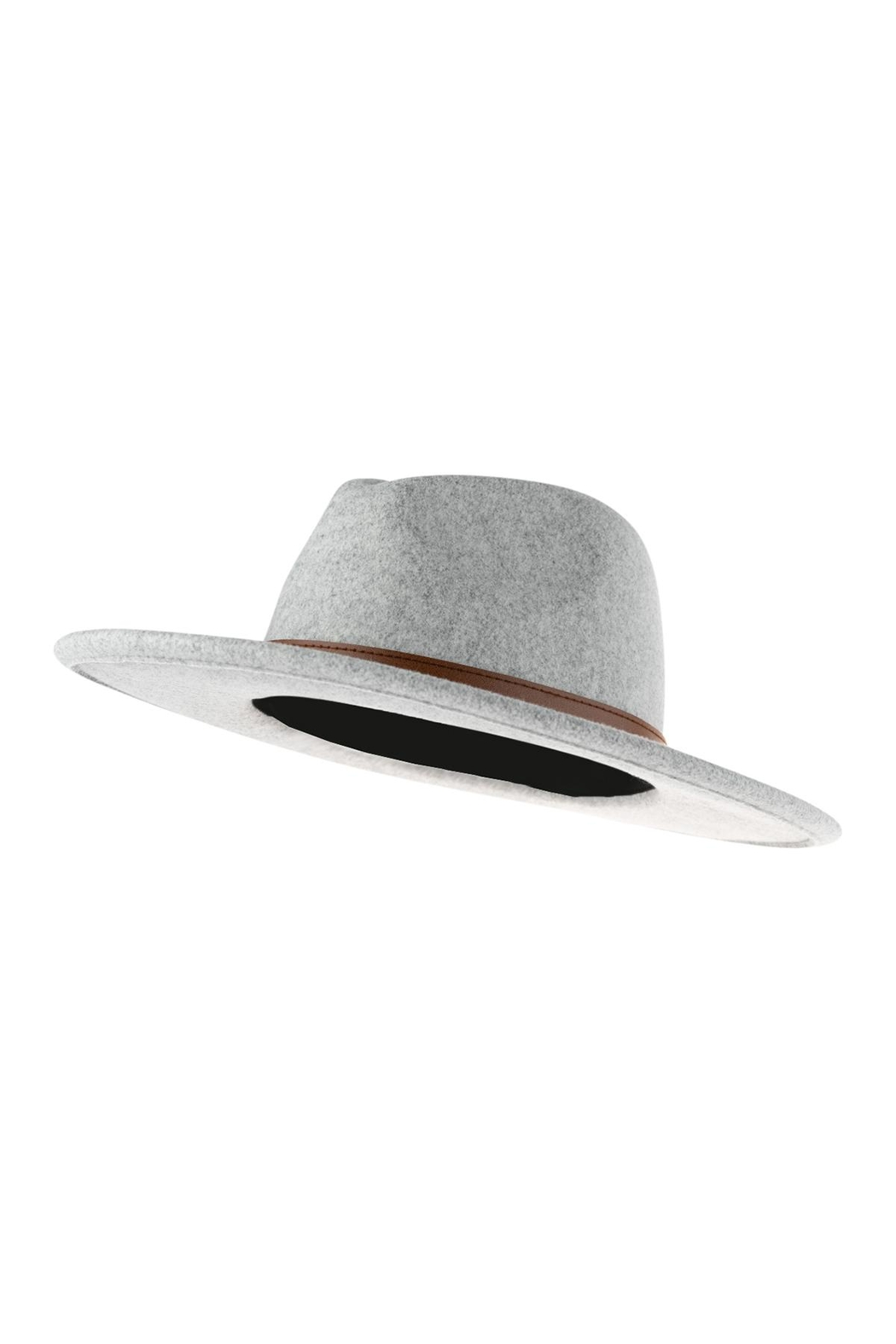 Riah Fashion Fashion Hat With Leather Belt Accent - Side Cropped Image