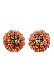 Riah Fashion Fashion Sports Rhinestone Earrings - Product Mini Image