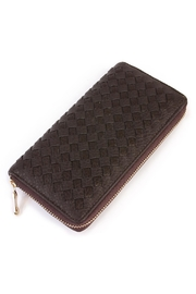 Riah Fashion Brown Weaved Wallet - Product Mini Image