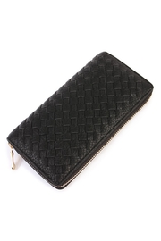 Riah Fashion Black Weaved Wallet - Product Mini Image