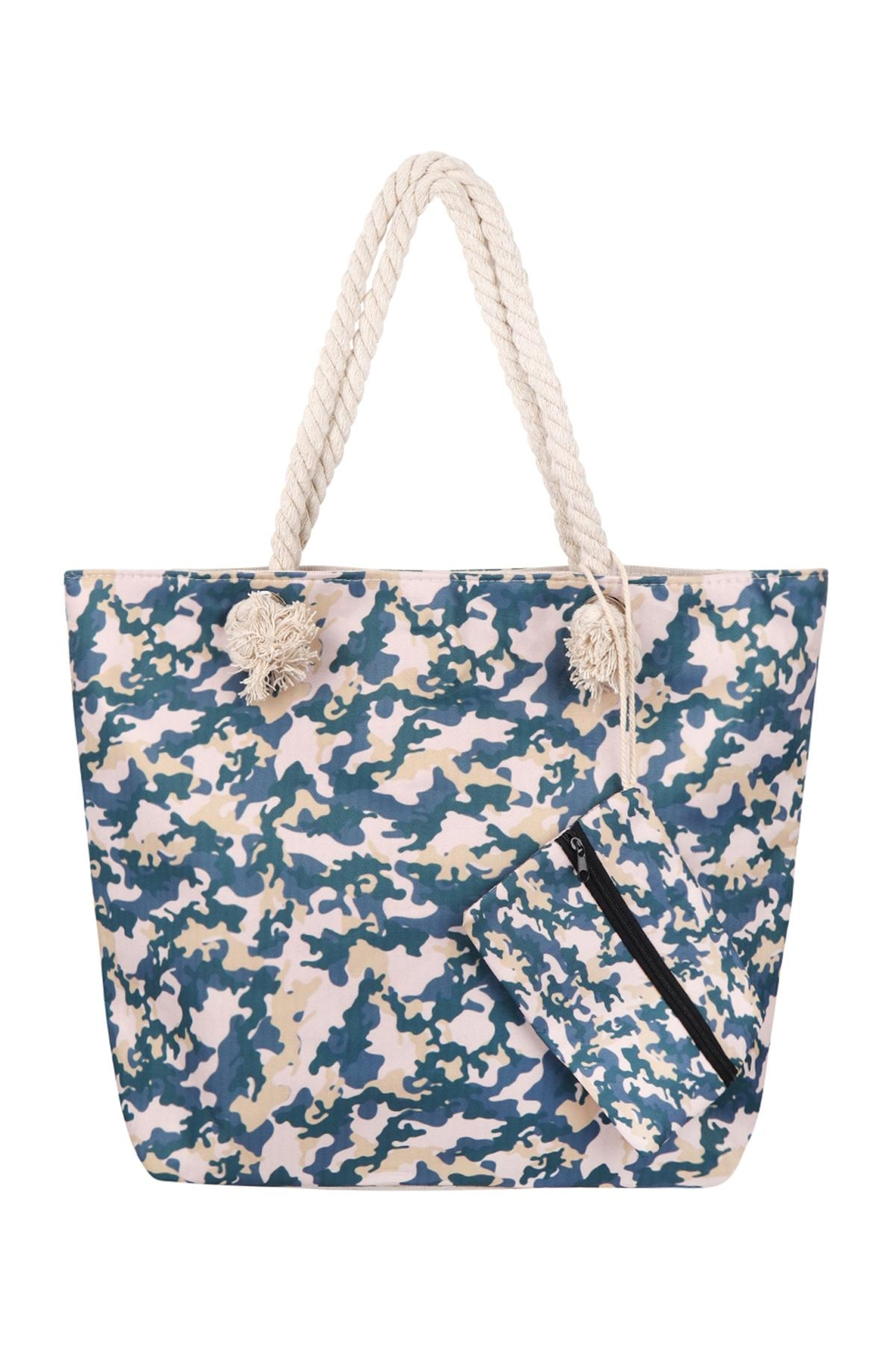 Riah Fashion Fashionable Camouflage-Digital-Printed-Tote-Bag-W/-Matching-Wallet - Main Image