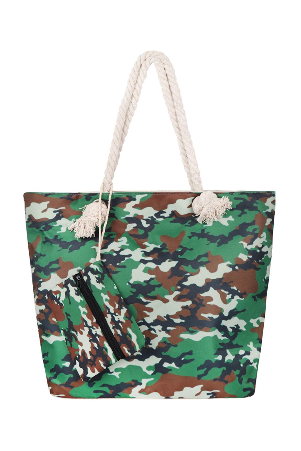 Riah Fashion Fashionable-Camouflage-Digital-Printed-Tote-Bag-W/-Matching-Wallet - Main Image