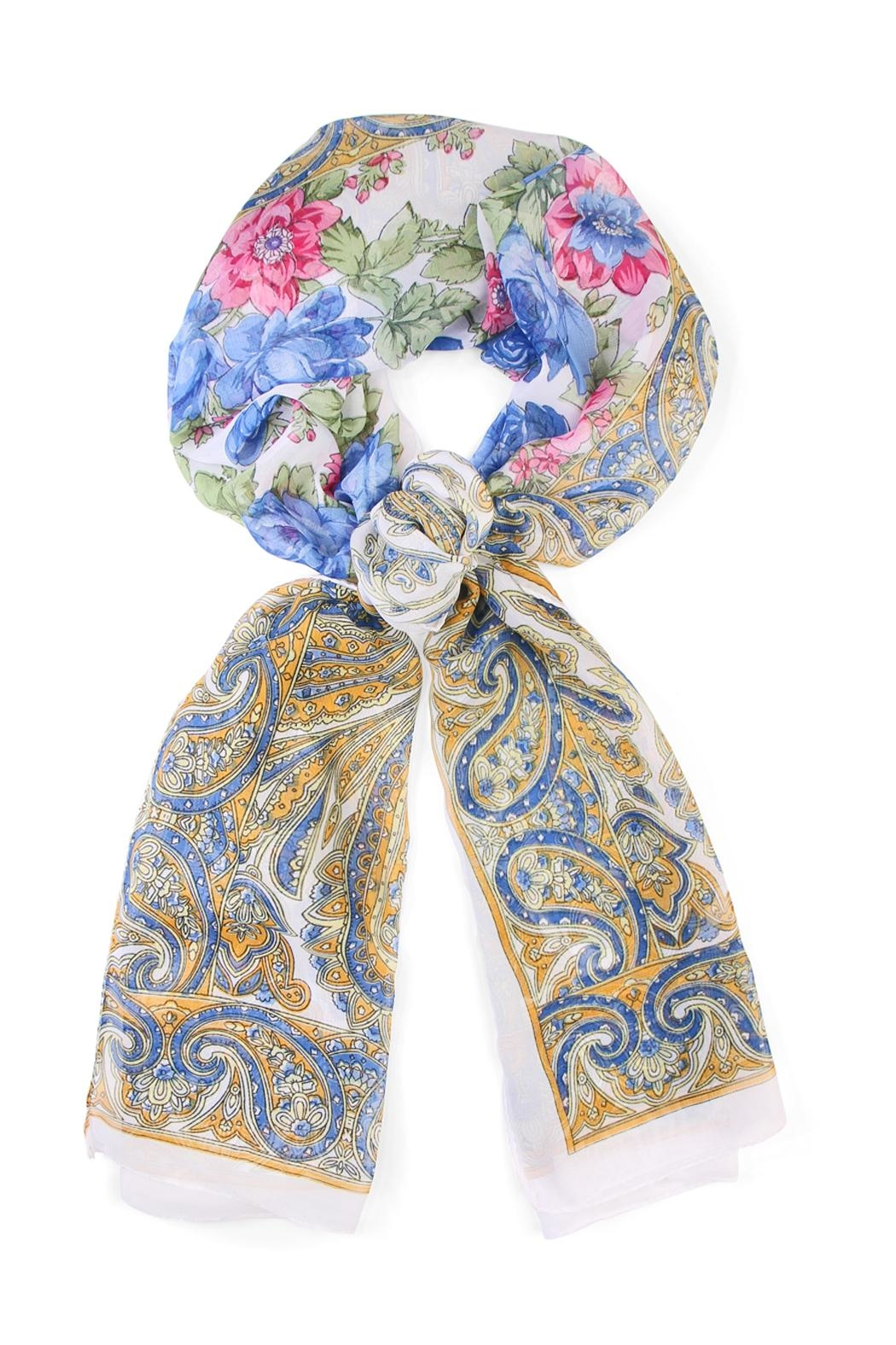 Riah Fashion Fashionable Rose Scarf - Main Image