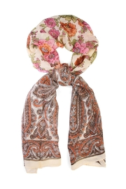 Riah Fashion Fashionable Rose Scarf - Front cropped