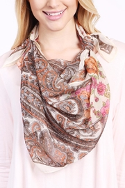 Riah Fashion Fashionable Rose Scarf - Side cropped