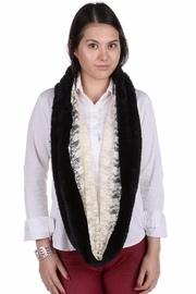 Riah Fashion Faux Fur Infinity Scarf - Front full body