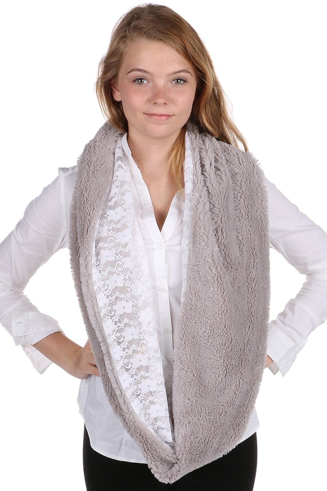 Riah Fashion Faux Fur Infinity Scarf - Front Full Image