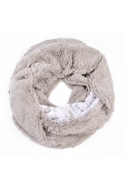 Riah Fashion Faux Fur Infinity Scarf - Front cropped