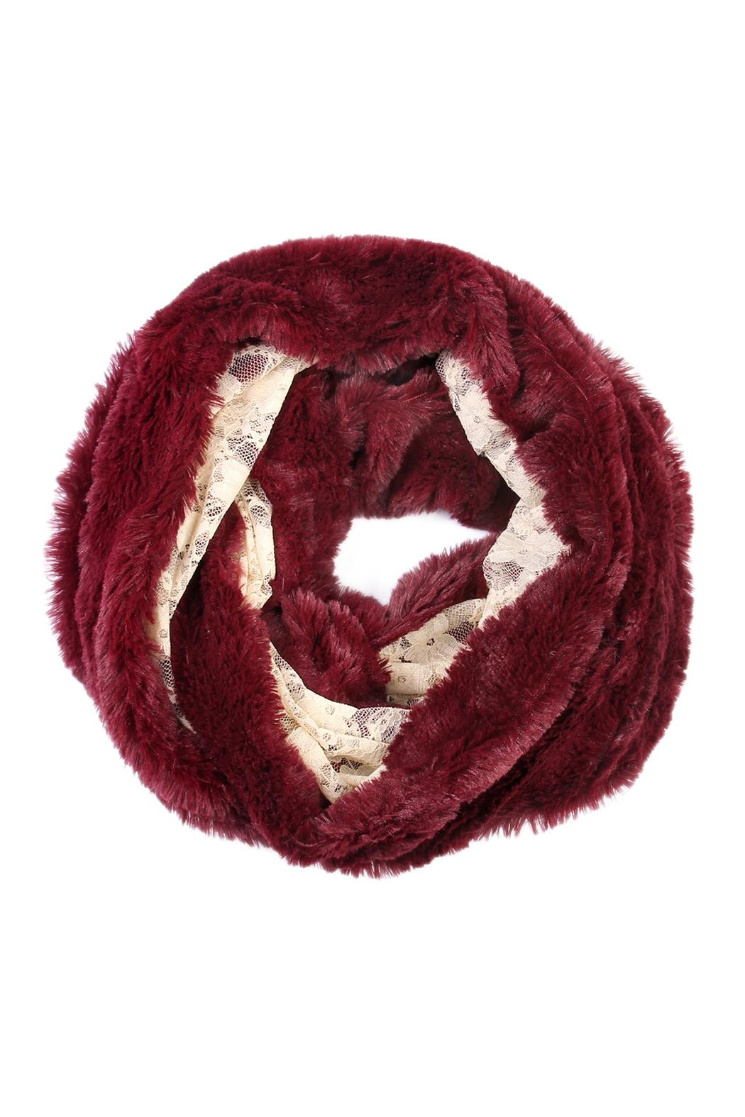 Riah Fashion Faux Fur Infinity Scarf - Front Cropped Image