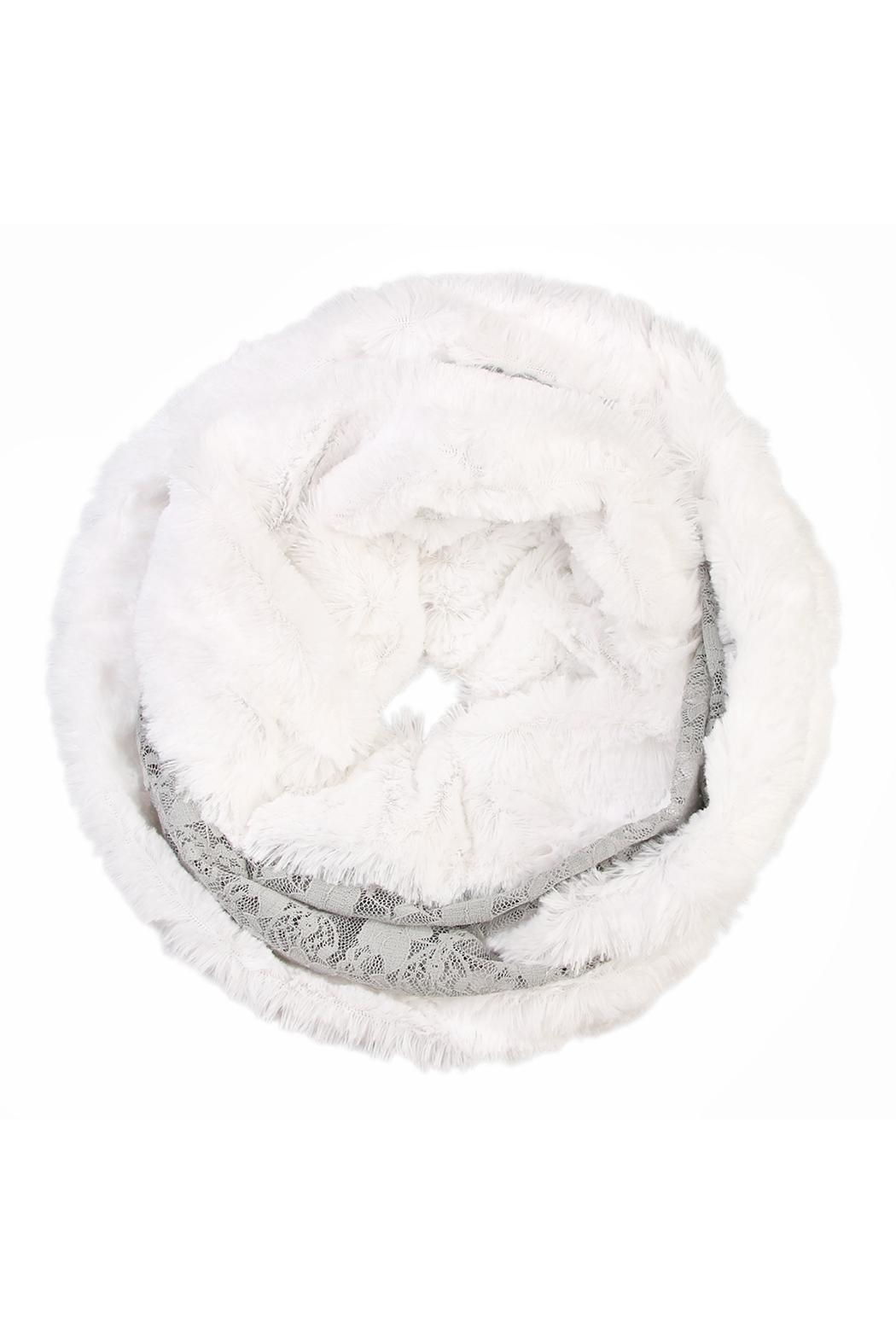 Riah Fashion Faux Fur Infinity Scarf - Main Image